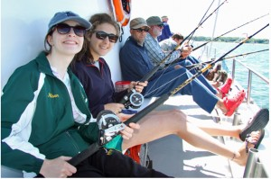 The Ward Melville High School Fishing Club has over 40 members, a diverse mix of young men and women anglers ranging from freshmen to seniors.